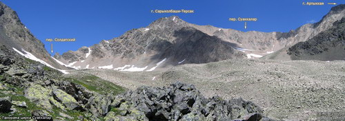 Сарыколбаши-Терсак, вершина
