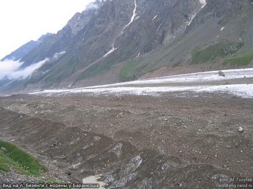 Безенги, ледник