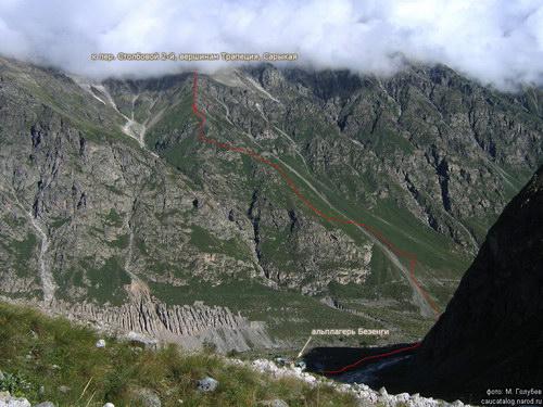 Сарыкая, вершина