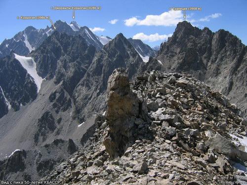 50-летия КБАССР, вершина
