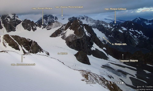 Мукал, ледник
