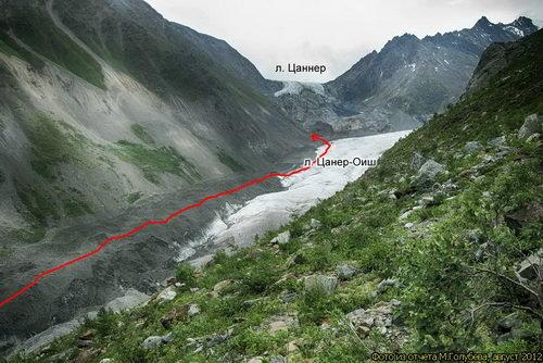 Цаннер, ледник