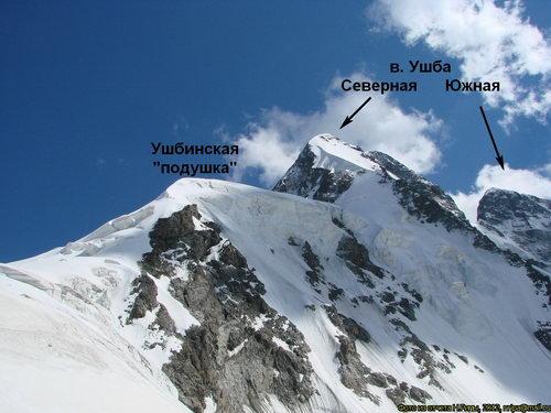 Ушба, вершина
