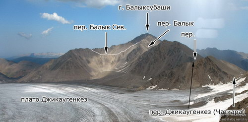 Джикаугенкёз, ледовое плато