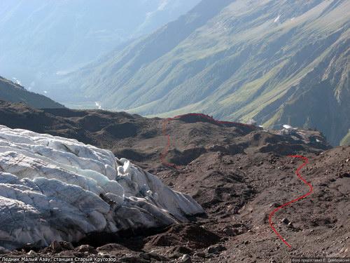 Азау Малый, ледник