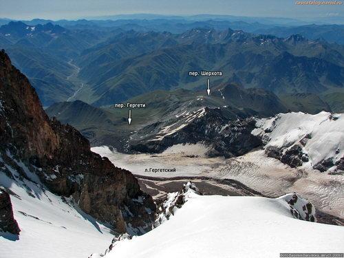 Гергетский, ледник