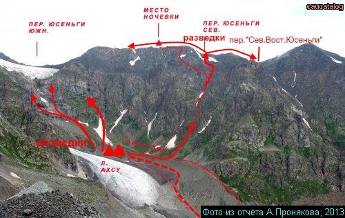 Ахсу Шхельдинский, ледник