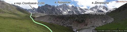 Джорашты-Куршоган, вершина