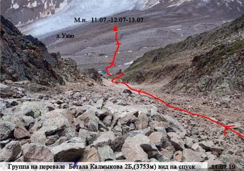 Калмыкова Бетала южный, перевал